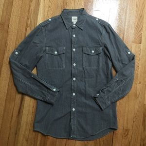 Landsend Canvas long sleeves button down shirts